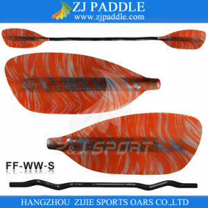 Z&J Sport High Performance Fiberglass Blade Whitewater Rafting Paddle with Cranked Shaft