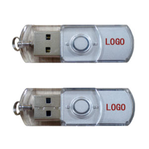 Transparent Swivel USB Pen Drive 1GB Plastic USB Flash Drive 8GB pictures & photos