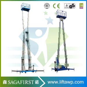 8m 12m Upright Aluminum Alloy Sky Lift Aerial Working Platforms pictures & photos
