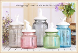 Food Grade Color Glass Storage Pot Glass Container with Ceramic Lid Food Storage Jar Kitchenware pictures & photos