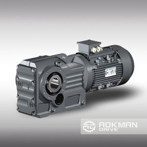 K Series 90 Degree Helical Gearbox with Motor pictures & photos