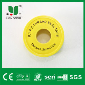 High Quality Teflon Tape Yellow 100% PTFE Thread Seal Tape pictures & photos