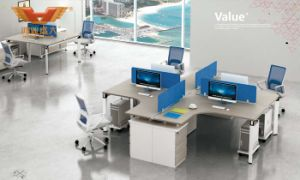Fashion 6 Person Seats Straight Office Partition Workstation with Metal Leg (H50-0204) pictures & photos