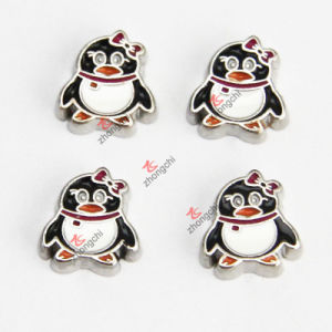 Cut Penguin Floating Charms for Living Lockets (FC955)