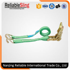 Ce European Type Polyester Cargo Lashing Belt with Ratchet pictures & photos