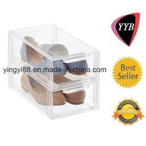 High Quality Acrylic Slide out Shoe Box (YYB-568) pictures & photos