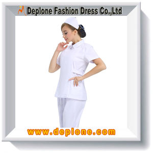 White Nursing Uniforms Wholesale Dress (HU101)