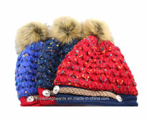 Promotion Cheap Pompon knitting Hat pictures & photos