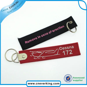 Customized Fabric Woven Lanyard Keychain pictures & photos