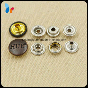 Design Concave Logo Brass Metal Press Snap Button for Coat pictures & photos