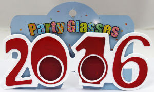 Party Glasses with 2016 Red