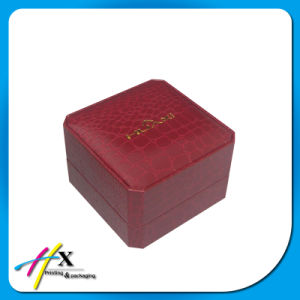 Black Leather Paper Coated Luxury Single Plastic Watch Box Cheap Boutique Watch Packaging Box pictures & photos