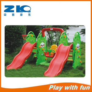 Amusement Park Kids Plastic Slide with Swing pictures & photos