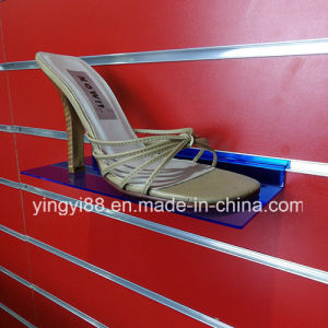 Custom Clear Slatwall Acrylic Shoe Shelf pictures & photos