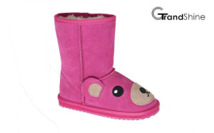 Kids New Arrival Suede Lovely Bear Snow Boots pictures & photos