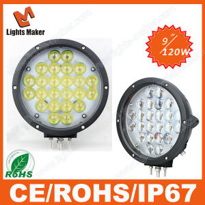 Automotive Work Lights, Waterproof IP67 9 Inch 120W LED Automotive Work Lights