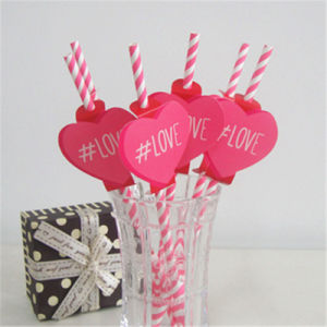 Custom Drinking Rice Heart Tag Straw Paper with FDA Certificate pictures & photos