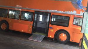 Disabled Electric Aluminum Wheelchair Ramp for Low Floor Bus with 350kg Loading (EWR) pictures & photos