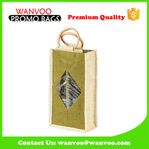 Standing Eco Friendly Wine Bottle Bag with Jute Material pictures & photos