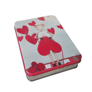 Heart Cut Girl Printed Metal Box Packaging for Gift Whoesale pictures & photos