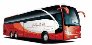 Professional Supply 13.7 Meters Long Big Coach Luxury Tourist City Bus with 6*2 6 Wheels