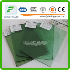 Building Glass of Pink and Golden Reflective Float Glass Wall Glass pictures & photos