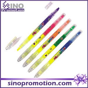 Transparent Plastic Marker Pen Double Headed Marker Pen Highlighter pictures & photos