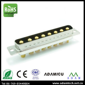 High Power Gold Pins 8W8 Male D-SUB Connector