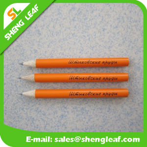 Wooden Popular Lovely Logo Pencil with Rubber (SLF-WP014) pictures & photos