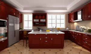Simple Style Solid Wood Kitchen Cabient