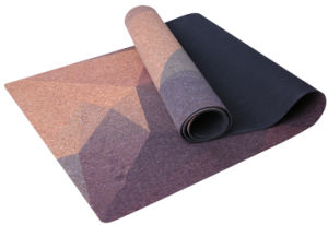 Unique Pattern Color Printed Yoga Mat, with Natural Cork pictures & photos