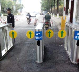 Smart Facial Scanner Swing Gate Turnstile pictures & photos