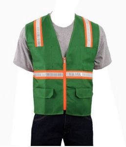Flu Yellow Trafic Safety Vest with Crystral Tape (DFV1071) pictures & photos