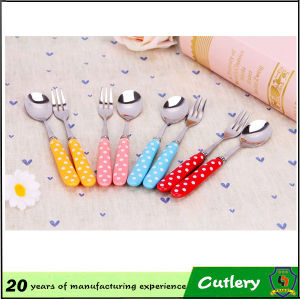 Colorful Handle Spoon Fork Knives Cutlery Set pictures & photos