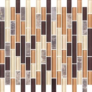 Strip Marble Mix Crystal Glass Mosaic Tile pictures & photos