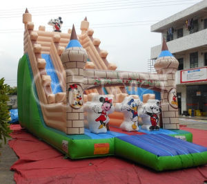 Hot-Selling Dry Slide Inflatable Cartoon Slide Chsl289 pictures & photos