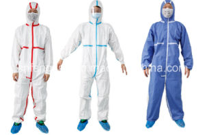 Type 4/5/6 Coverall with Microporous Film/Tapes(Cat. 3 Type 4/5/6 pictures & photos