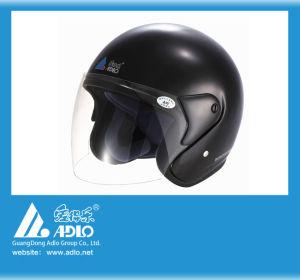 Adlo Black Open Face Motorcycle Helmet (05) pictures & photos