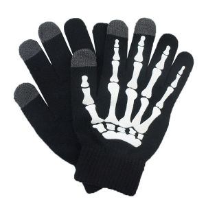Fashion Printed Acrylic Knitted Touch Screen Winter Magic Gloves (YKY5439-2) pictures & photos