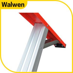 En131 Movable Insulated Agility Attic Fiberglass Tray Ladder pictures & photos