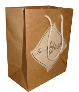 Kraft Paper Shopping Bags with Handle pictures & photos