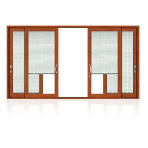 Aluminum/Aluminium Double Glass Sliding Window with Mosquito Screen (FT-W126) pictures & photos