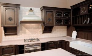 Kitchen Furniture Dark Walnut Kitchen Cabinets (dw69) pictures & photos