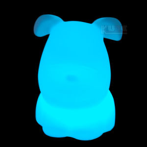 Battery Powered LED Coloured Doggie Lamp pictures & photos
