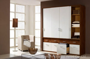 Functional Design Sliding Doors & Drawers Wardrobe Closet (HF-WB023) pictures & photos