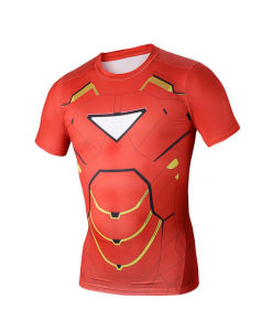 Compression Base Layer Short Sleeve Men Sports Fitness T-Shirt (AKJSY2015037) pictures & photos