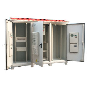 Outdoor Aluminum Cabinet with 3 Doors for Telecom Industry