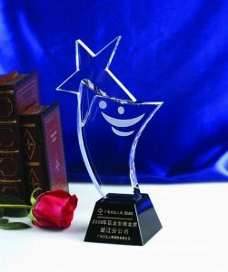 Hot Sale Crystal Award with Laser Custom Logo pictures & photos