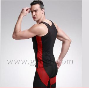 Men′s Bamboo Carbon Fiber Body Sculpting Underwear Tanktop pictures & photos