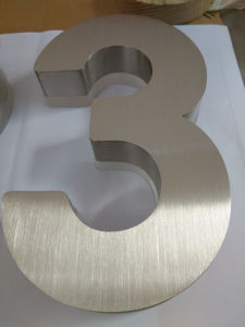 Vertical Brushed Stainless Steel Acrylic House Number Sign pictures & photos